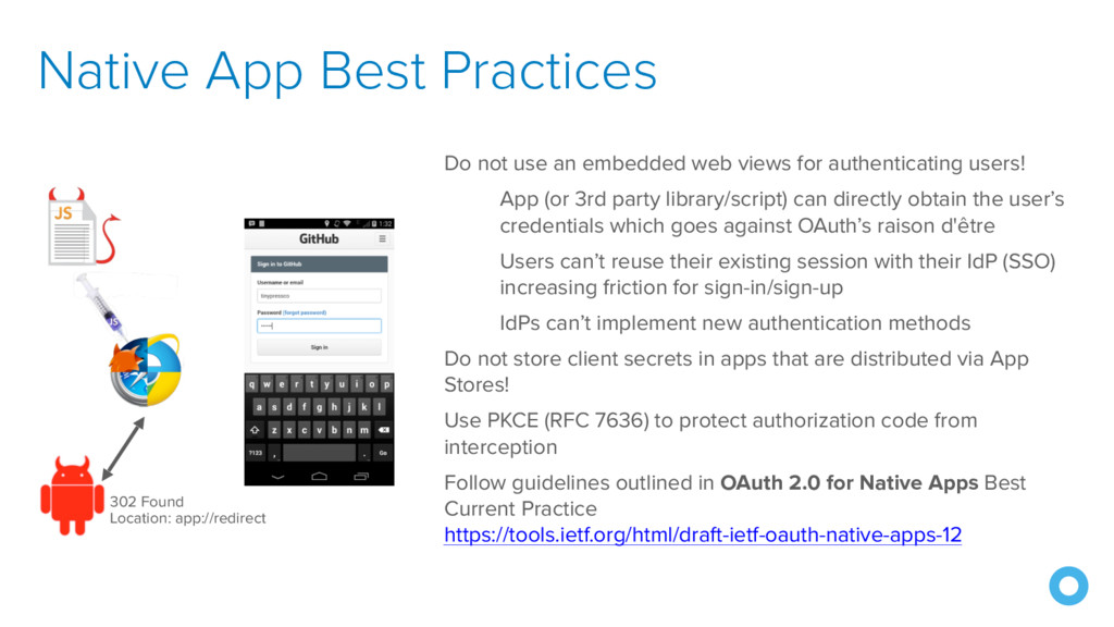 Native App Best Practices Do not use an embedde...