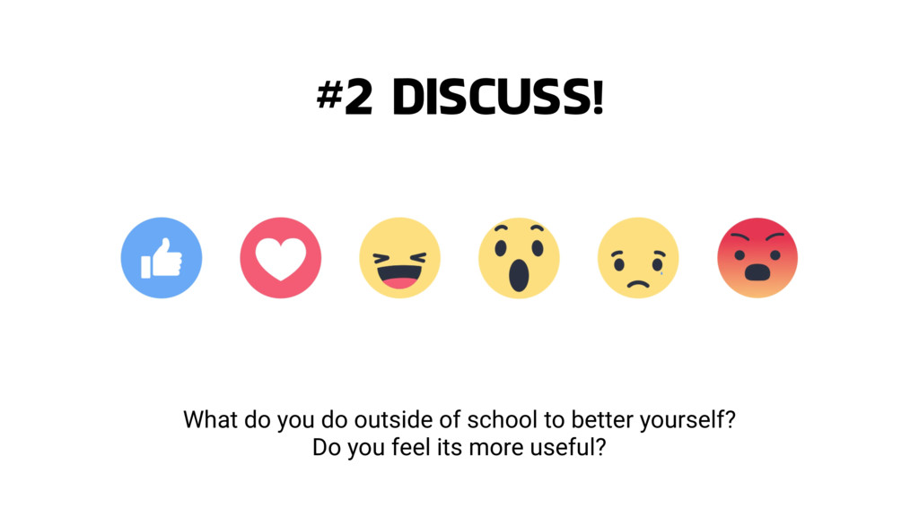What do you do outside of school to better your...