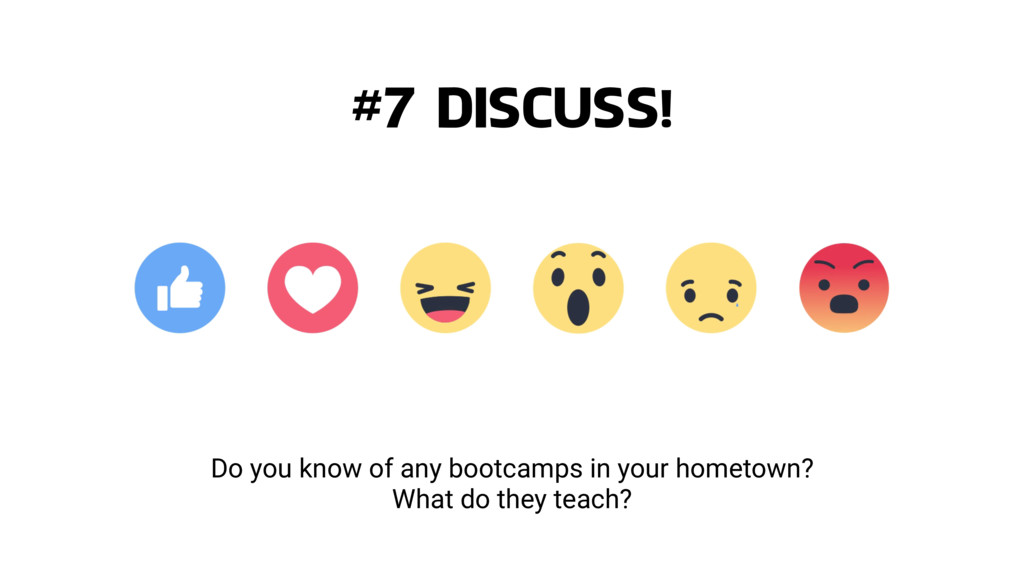Do you know of any bootcamps in your hometown? ...