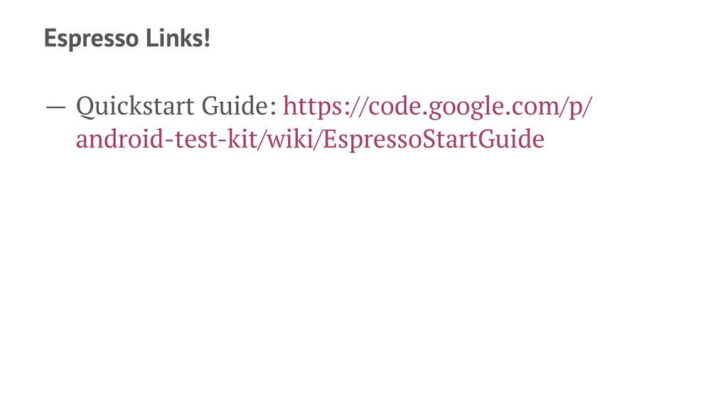 Espresso Links! — Quickstart Guide: https://cod...