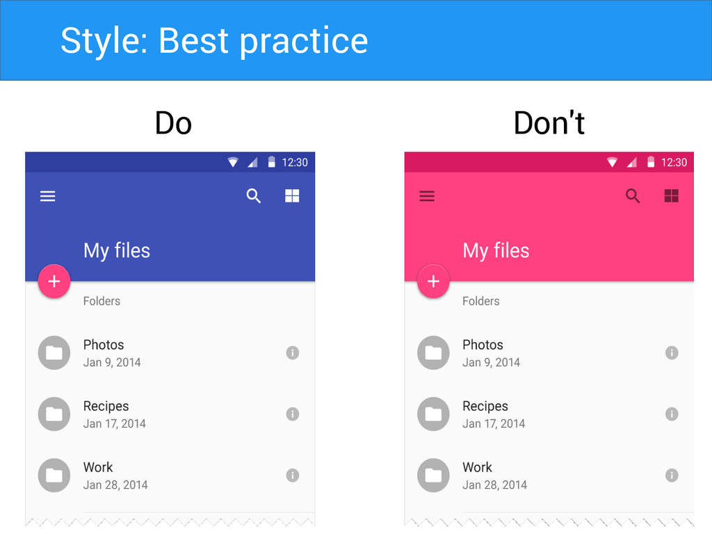Do Don't Style: Best practice