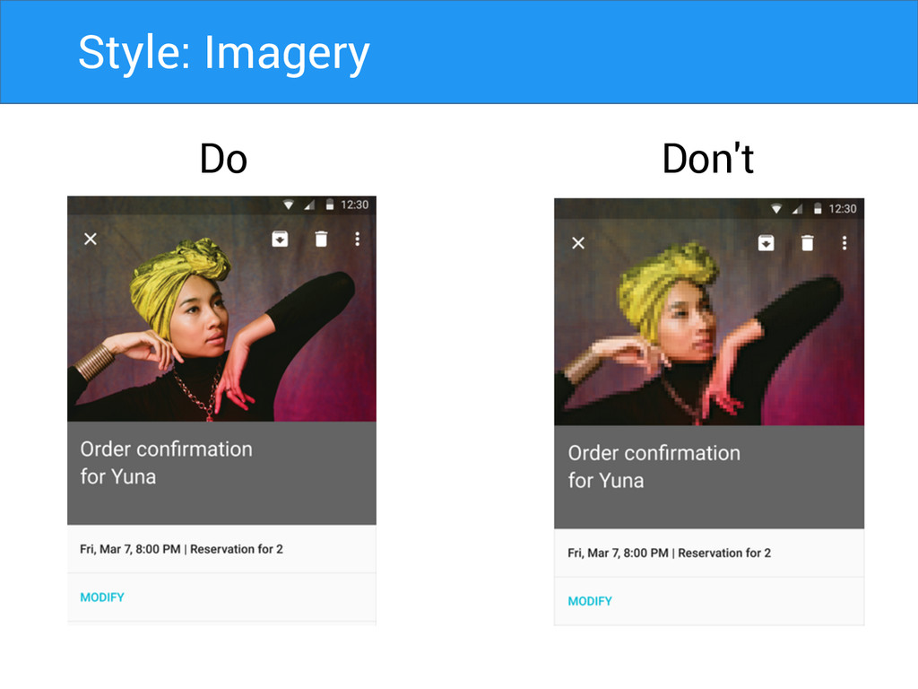 Style: Imagery Do Don't
