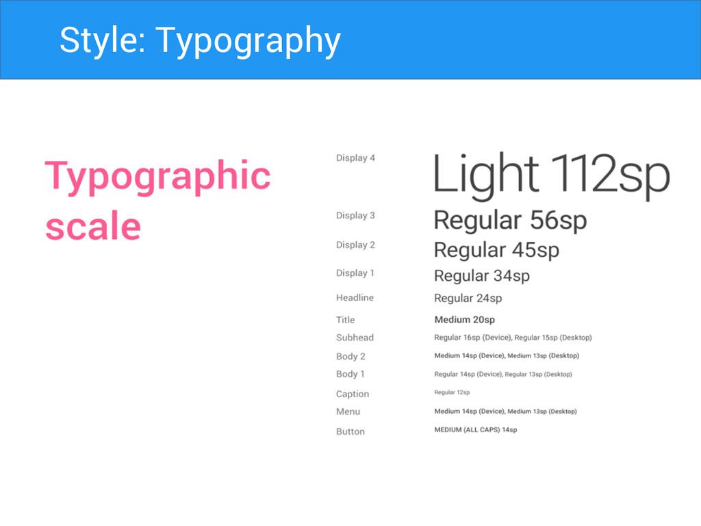 Style: Typography
