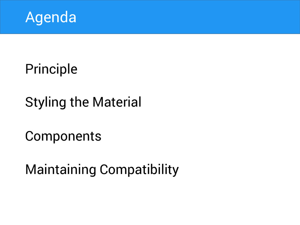 Principle Styling the Material Components Maint...