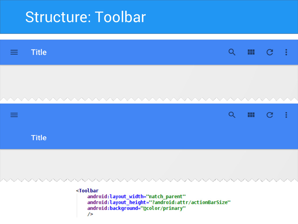 Structure: Toolbar