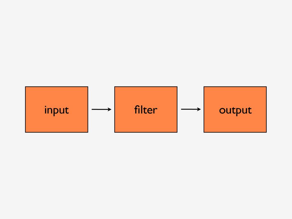 input filter output