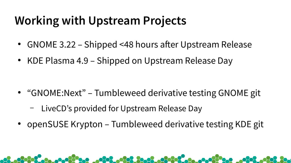 Working with Upstream Projects ● GNOME 3.22 – S...