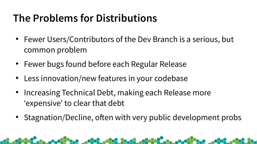 The Problems for Distributions ● Fewer Users/Co...