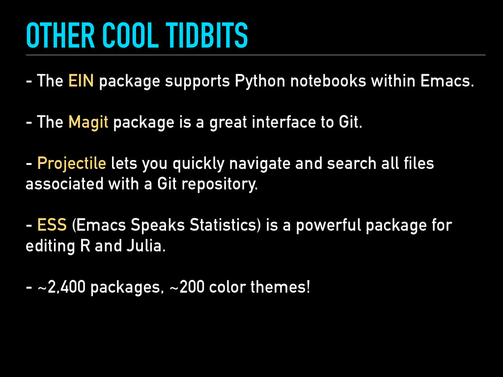 OTHER COOL TIDBITS - The EIN package supports P...