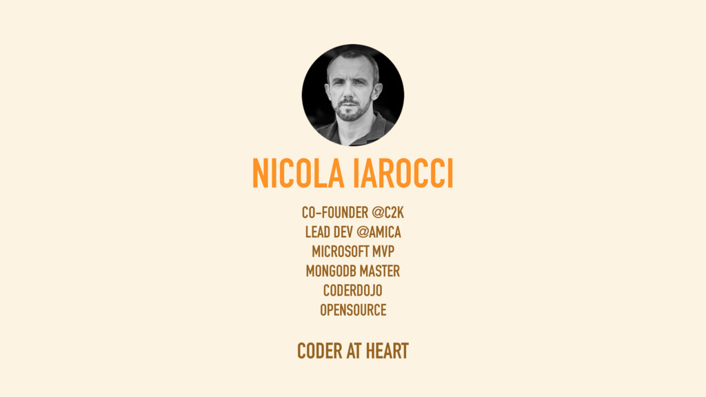 NICOLA IAROCCI Co-Founder @ CIR2000 Lead Develo...