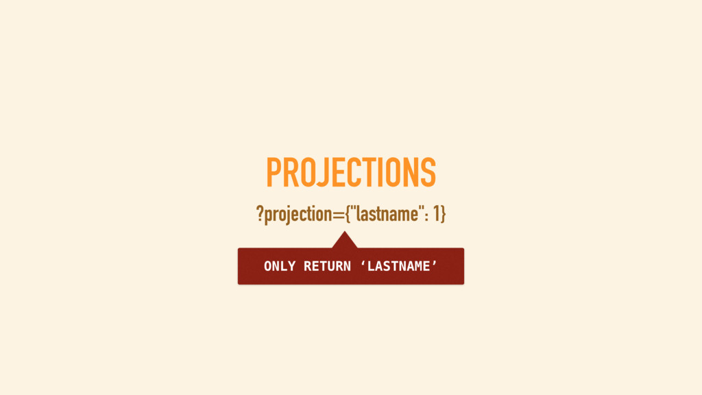 "PROJECTIONS ?projection={""avatar"": 0} RETURN AL..."