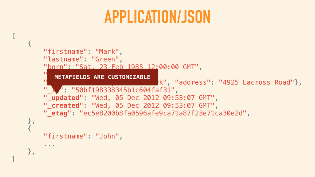 "APPLICATION/JSON [ { ""firstname"": ""Mark"", ""last..."