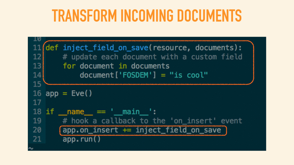 TRANSFORM INCOMING DOCUMENTS