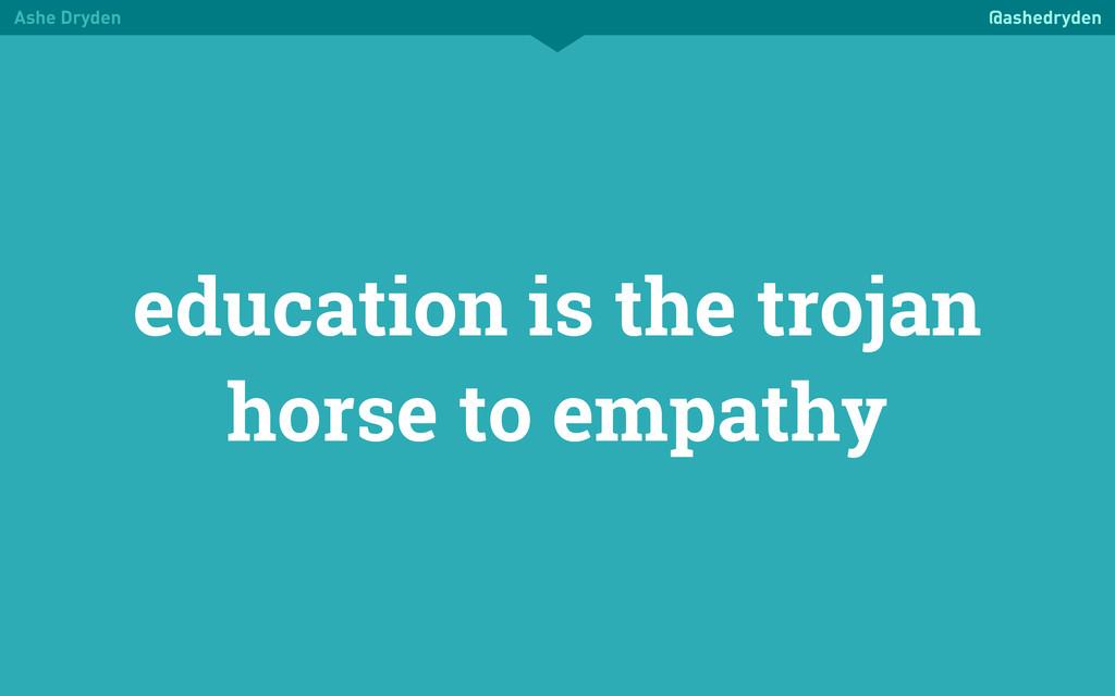 Ashe Dryden @ashedryden education is the trojan...