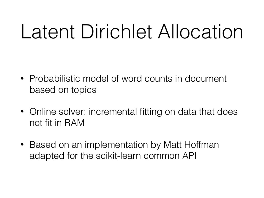 Latent Dirichlet Allocation • Probabilistic mod...