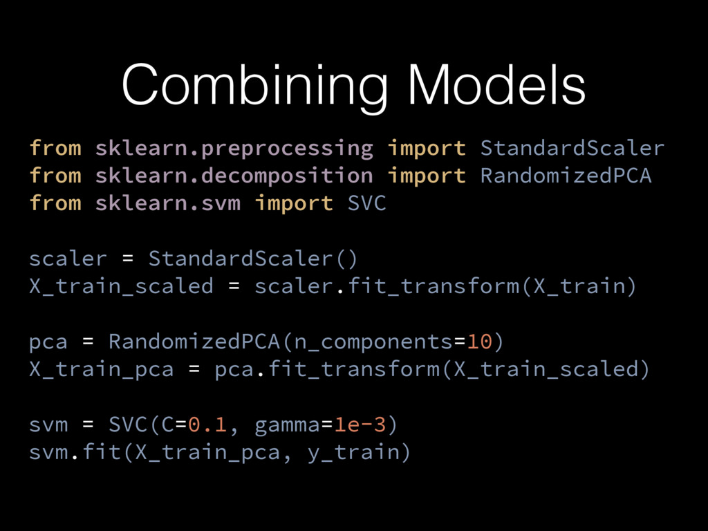 Combining Models from sklearn.preprocessing imp...