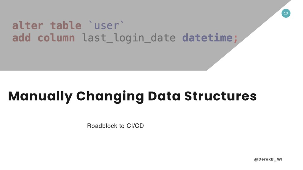 @DerekB_WI 10 Manually Changing Data Structures...