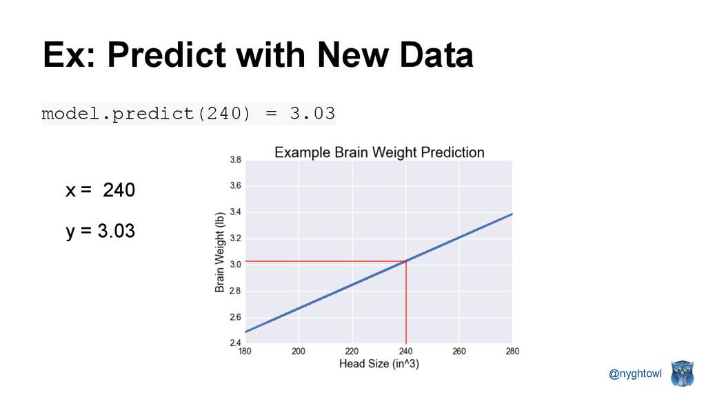 @nyghtowl model.predict(240) = 3.03 Ex: Predict...