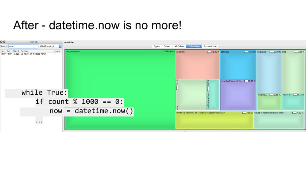 After - datetime.now is no more! while True: no...