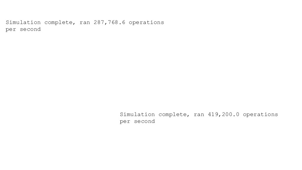 Simulation complete, ran 287,768.6 operations p...