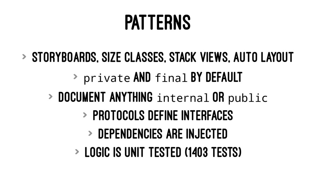 PATTERNS > Storyboards, size classes, stack vie...