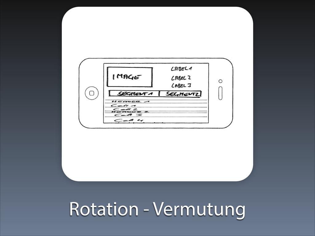 Rotation - Vermutung