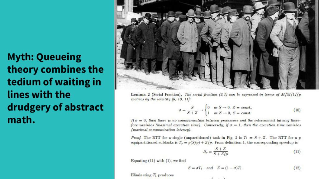 Myth: Queueing theory combines the tedium of wa...