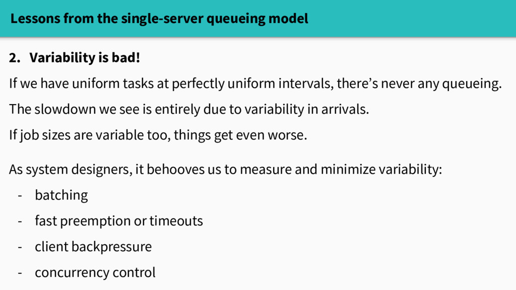 Lessons from the single-server queueing model 2...