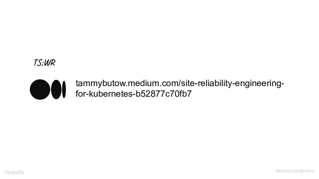 @tambryantbutow tammybutow.medium.com/site-reli...