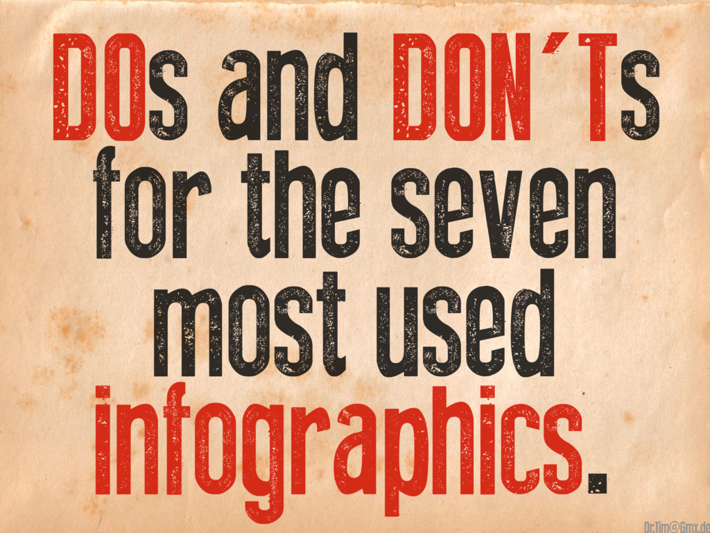 DOs and DON'Ts for the seven most used infograp...