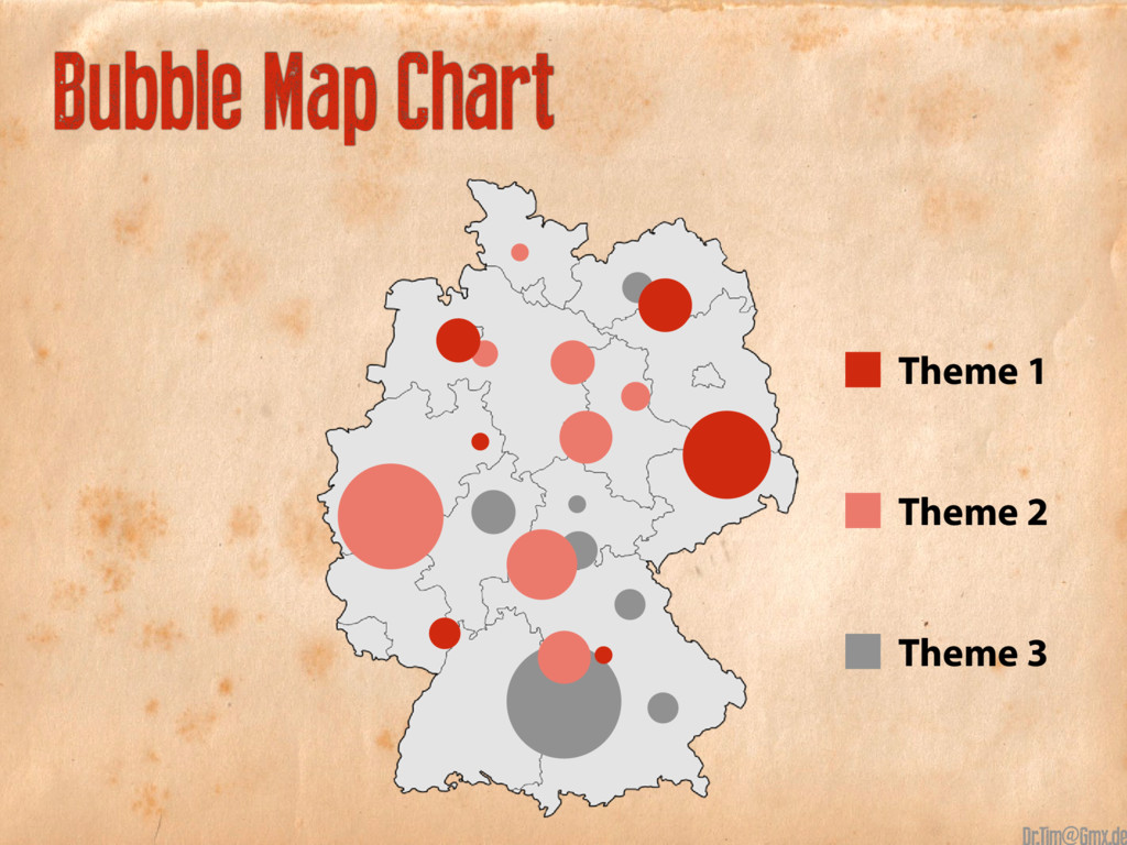 Bubble Map Chart Theme 3 Theme 2 Theme 1 @
