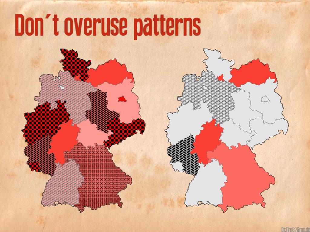 Don't overuse patterns @