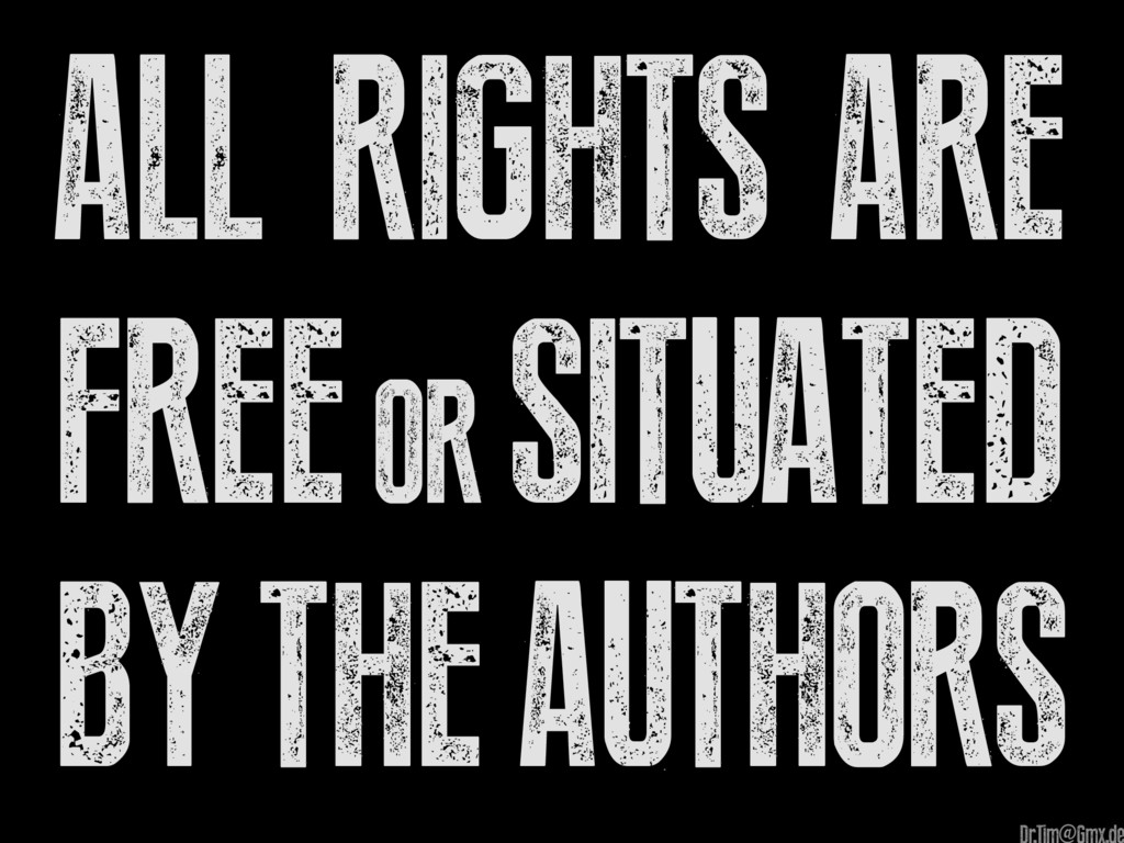 All Rights are Free OR situated by the authors @