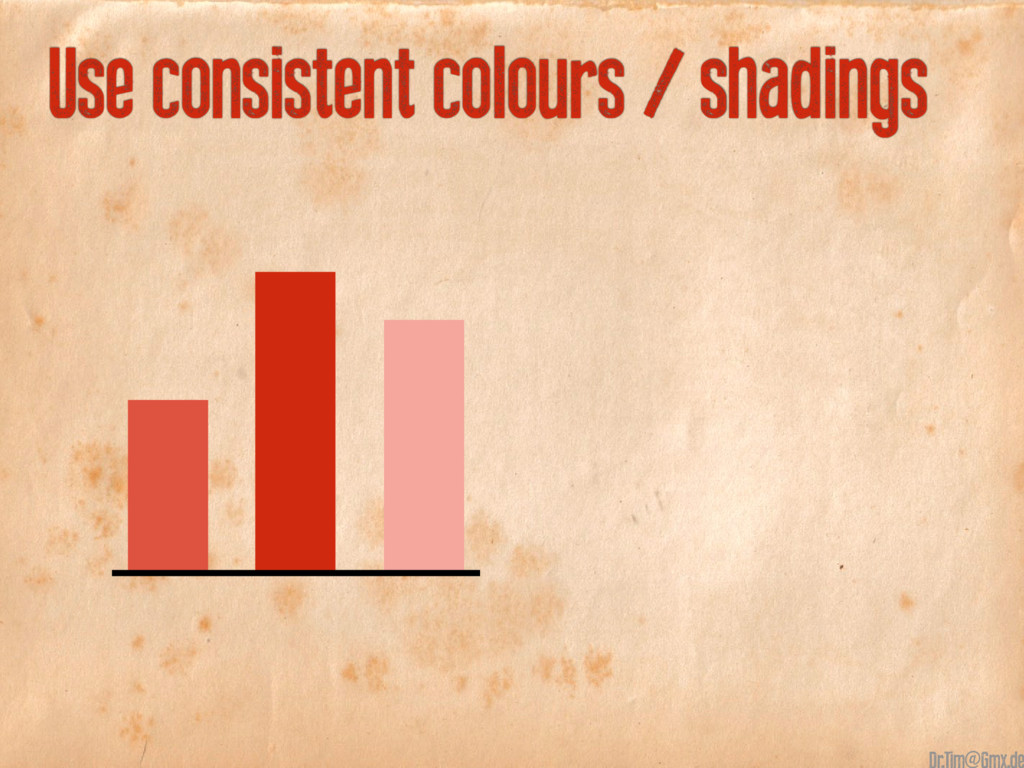 Use consistent colours / shadings @