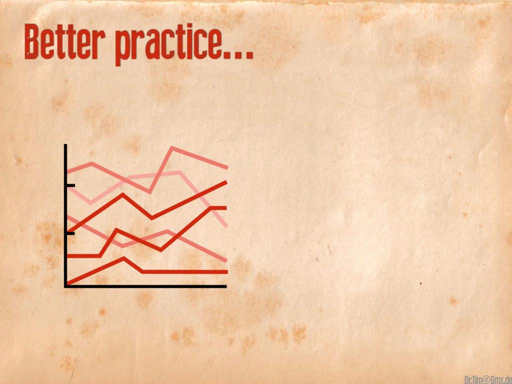 Better practice... @
