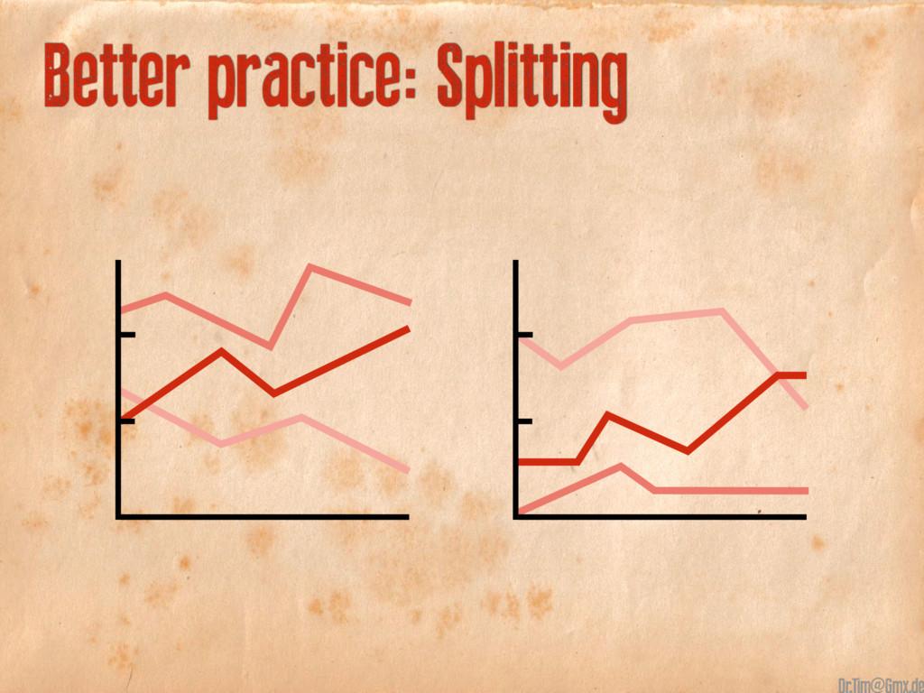 Better practice: Splitting @