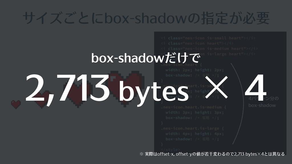 """サイズごとにbox-shadowの指定が必要 <i class=""""nes-icon is-sm..."""