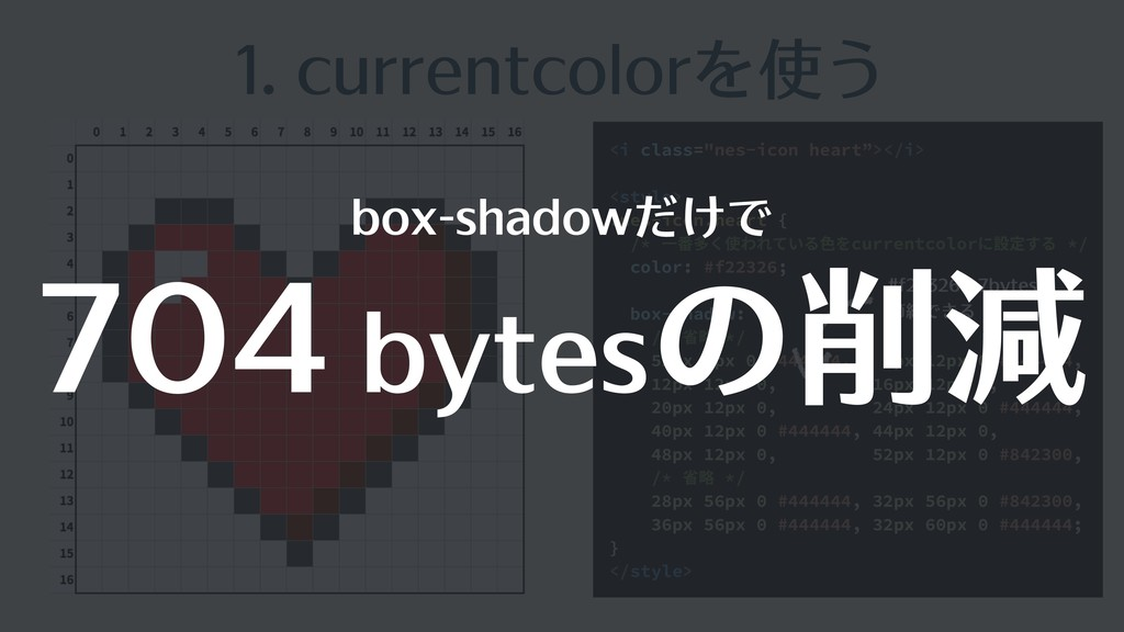 "1. currentcolorを使う <i class=""nes-icon heart""></..."