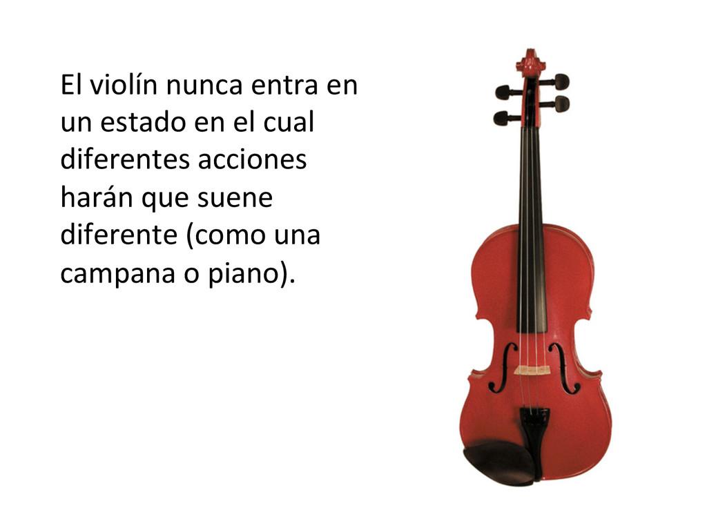 El violín nunca entra en  un ...