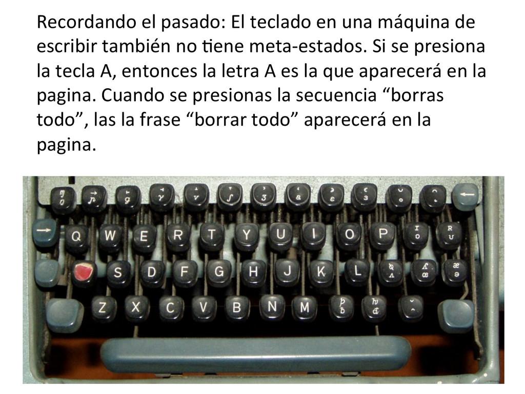 Recordando el pasado: El teclado ...