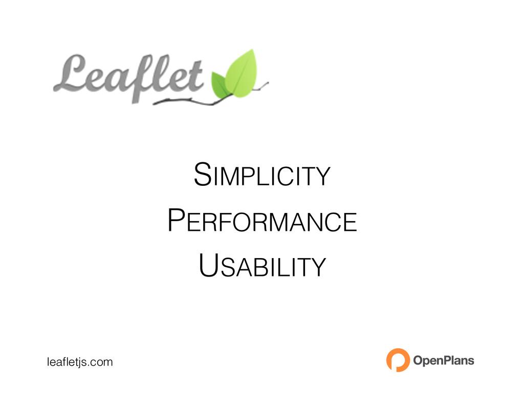 leafletjs.com SIMPLICITY PERFORMANCE USABILITY