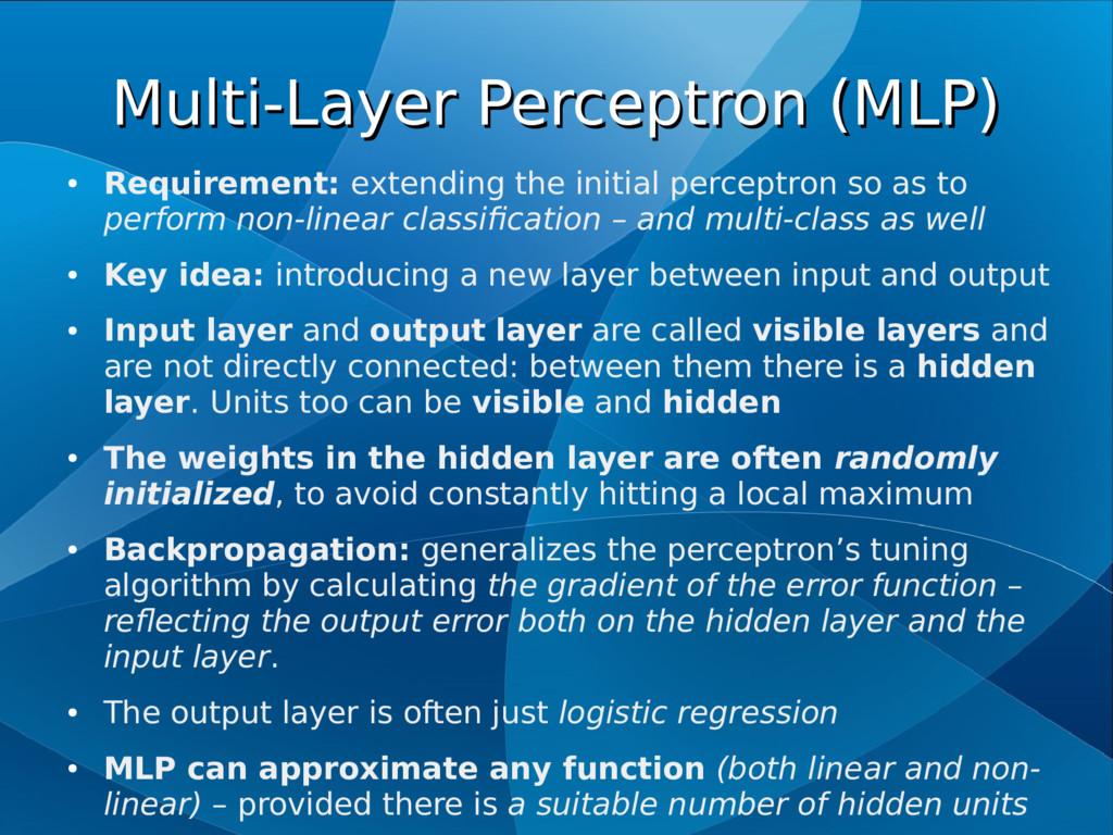 Multi-Layer Perceptron (MLP) Multi-Layer Percep...
