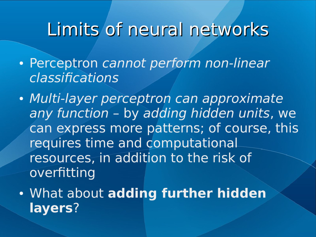 Limits of neural networks Limits of neural netw...