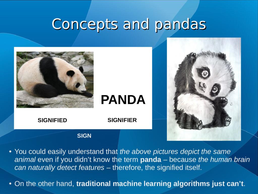 Concepts and pandas Concepts and pandas PANDA S...
