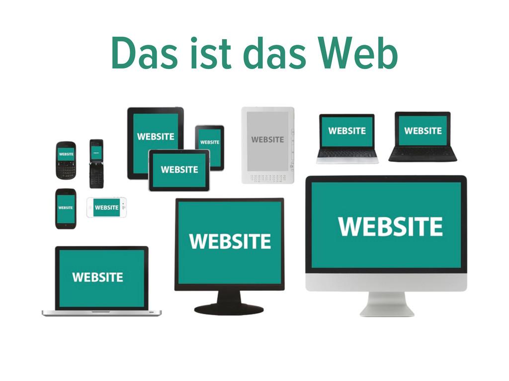 Das ist das Web