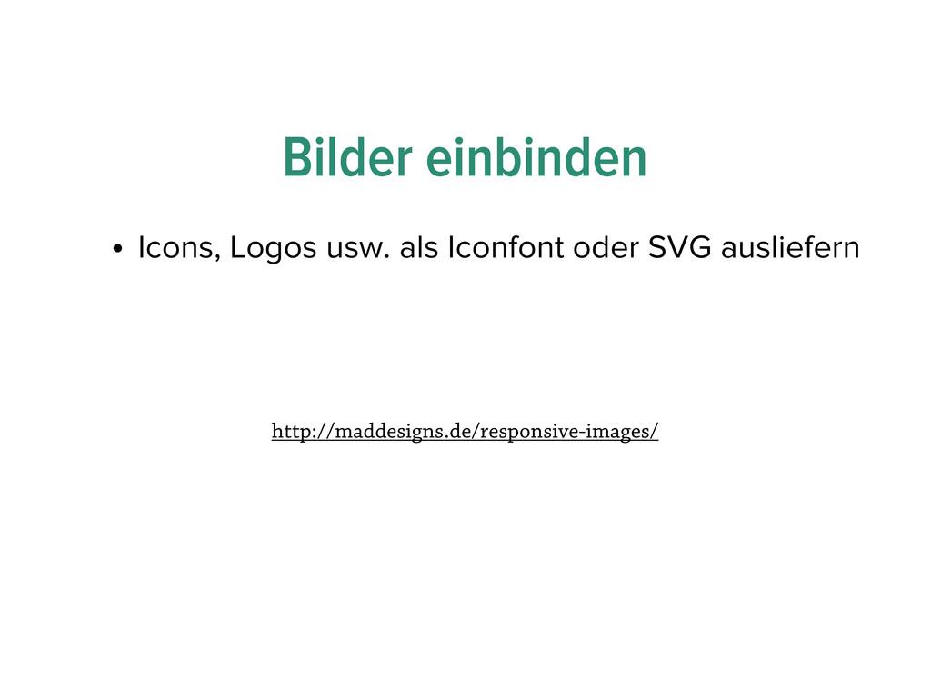Bilder einbinden • Icons, Logos usw. als Iconfo...