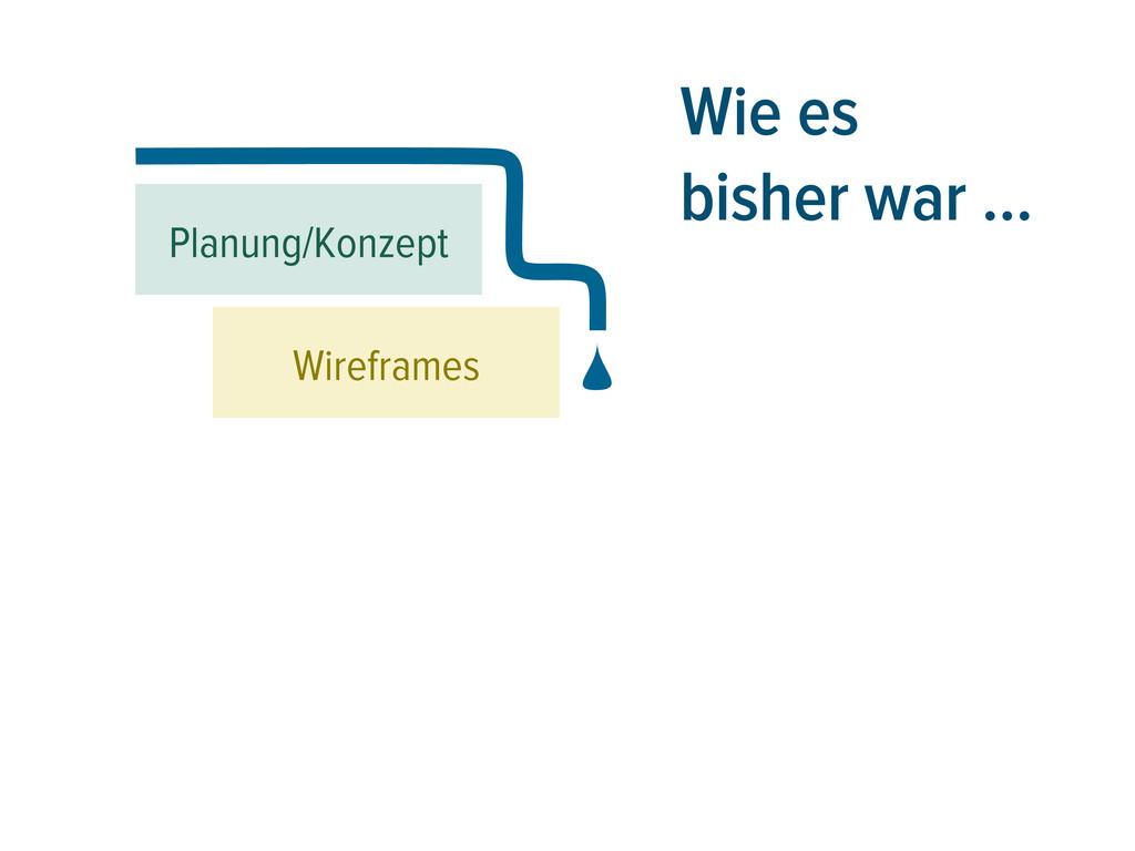 Wie es bisher war … Planung/Konzept Wireframes