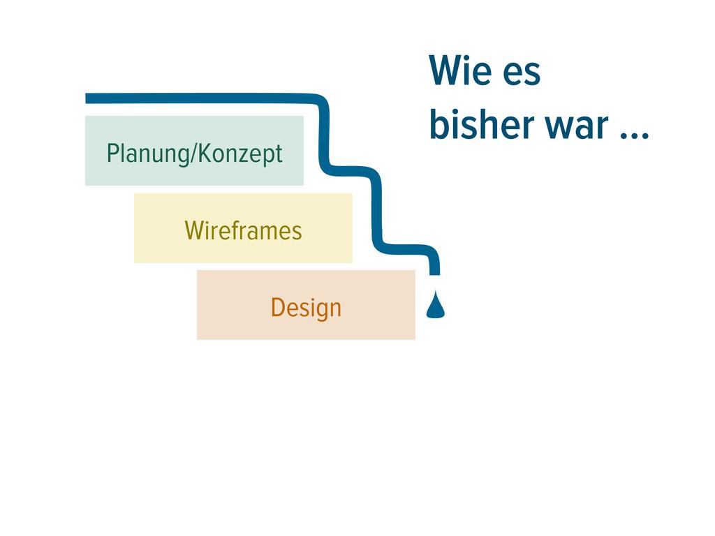 Wie es bisher war … Planung/Konzept Design Wire...