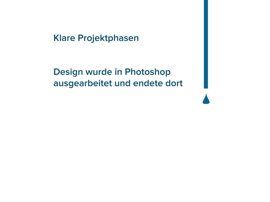 Klare Projektphasen Design wurde in Photoshop a...