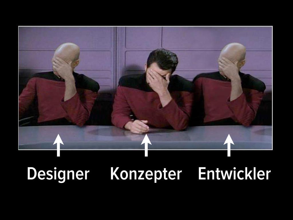 Designer Konzepter Entwickler